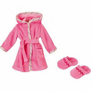 Käthe Kruse 33992 - Puppen Bekleidung - Bademantel mit Hausschuhen, 39-41 cm, rosa