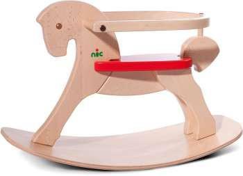 """Nic 2616 - Schaukelpferd Pony """" Lucky"""" mit Lehne"""