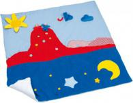 Käthe Kruse 56500 - Spieldecke Sonne Mond Sterne, 100x100cm