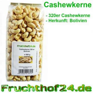 Cashewkerne 320er - Cashew - Natural - 500g