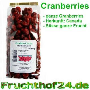 ganze Cranberries - getrocknet - große - runde - 3kg - Vorschau
