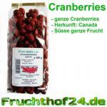 ganze Cranberries - getrocknet - große - runde - 1kg