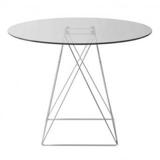 Tisch modern rund glas tischplatte kaufen bei richhomeshop for Tisch rund modern