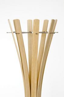Garderobenständer aus Holz massiv und Edelstahl, moderne Garderobe mit Hacken aus Edelstahl, Ø 58 cm - Vorschau 4