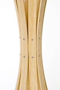 Garderobenständer aus Holz massiv und Edelstahl, moderne Garderobe mit Hacken aus Edelstahl, Ø 58 cm - Vorschau 5