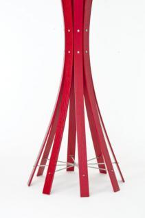 Garderobenständer aus Holz massiv und Edelstahl, moderne Garderobe mit Hacken aus Edelstahl, Ø 48 cm - Vorschau 4