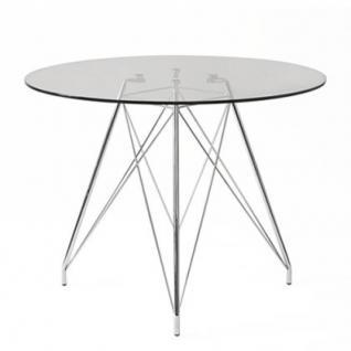 tisch modern glas metall design kaufen bei richhomeshop. Black Bedroom Furniture Sets. Home Design Ideas