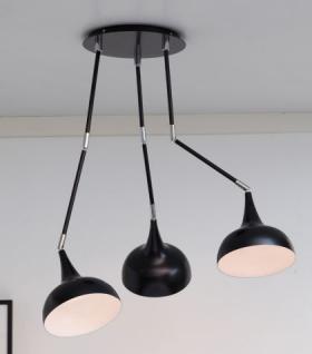 design deckenleuchte moderne deckenlampe mit drei lampenschirmen 55 cm kaufen bei richhomeshop. Black Bedroom Furniture Sets. Home Design Ideas
