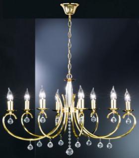 Design Kronleuchte, gold, Glasbehang, oval 83 x 60 cm - Vorschau