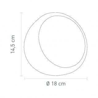 Tischleuchte Metall chrom Kunststoff schwarz modern - Vorschau 2