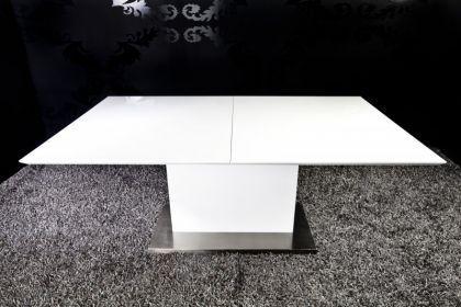 moderner tisch hochglanz lackiertes holz edelstahl. Black Bedroom Furniture Sets. Home Design Ideas