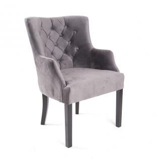 sessel grau gepolstert stuhl grau im landhausstil kaufen bei richhomeshop. Black Bedroom Furniture Sets. Home Design Ideas