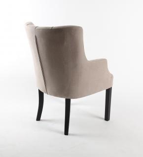 sessel farbe leinen stuhl gepolstert im landhausstil kaufen bei richhomeshop. Black Bedroom Furniture Sets. Home Design Ideas