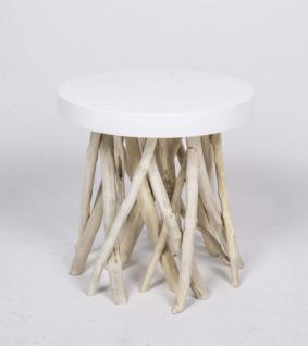 Beistelltisch aus Kunststoff/Holz - Vorschau 1