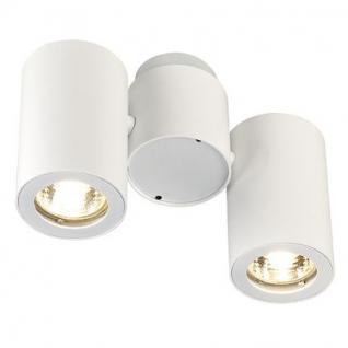 Deckenleuchte/ Strahler Aluminium/ Stahl weiß
