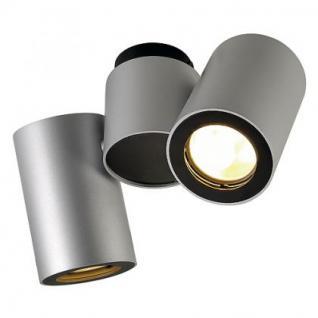 Deckenleuchte/ Strahler Aluminium/ Stahl silbergrau/ schwarz