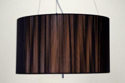 Hängeleuchte, Pendelleuchte mit einem schwarzem Lampenschirm, Ø 60 cm - Vorschau 3