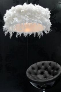 Federlampe, Pendelleuchte mit einem Lampenschirm aus Feder, Ø 50 cm