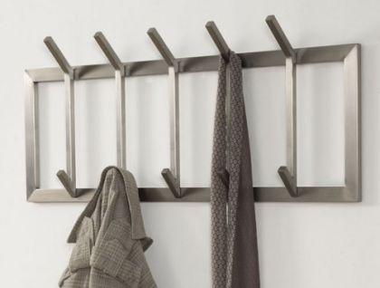 wandgarderobe moderne garderobe mit 10 haken edelstahl h he 36 cm kaufen bei richhomeshop. Black Bedroom Furniture Sets. Home Design Ideas