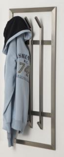 Wandgarderobe, moderne Garderobe mit 6 Haken, Edelstahl, Höhe 100 cm - Vorschau 1