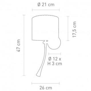 Wandleuchte Metall satin Textilschirm weiß modern LED + Leseleuchte - Vorschau 2