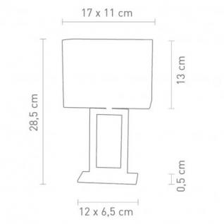 Tischleuchte Edelstahl chrom (poliert) Textilschirm creme modern - Vorschau 2