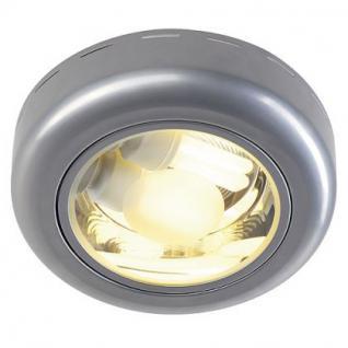 Deckenleuchte Stahl, Glas in silbergrau - Vorschau 1