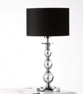 Tischleuchte schwarz silber modern