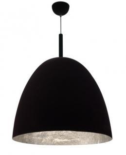 Pendelleuchte Fiberglas silber Samt schwarz modern dimmbar - Vorschau 1