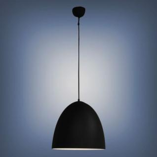 Moderne Pendelleuchte, Farbe schwarz, 40 cm Durchmesser