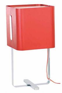 Tischleuchte rot, Chrom, Alu 60x30 cm