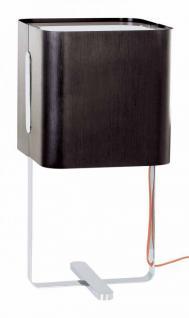 Tischleuchte schwarz, Chrom, Alu 60x30 cm