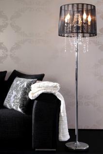 Stehleuchte im venezianischen Stil, Farbe schwarz-chrom