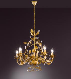 Design Kronleuchte, gold, Glas, Durchmesser 60 cm
