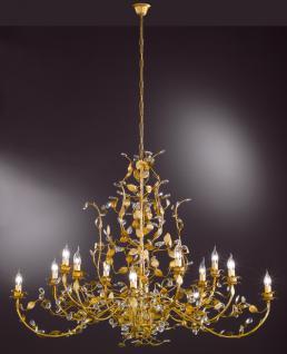 Design Kronleuchte, gold, Glas, Durchmesser 130 cm