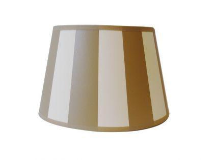 Lampenschirm klassisch, rund 20 cm, beige-creme/weiß gestreift