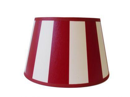 Lampenschirm klassisch, rund 20 cm, rot-weiß gestreift - Vorschau