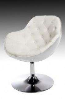 Design Sessel Speedchair gesteppt modern in weiß