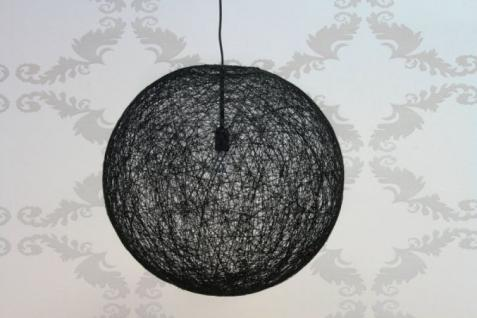 Pendelleuchte Sisal-Optik schwarz