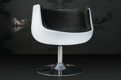 Design Sessel Combo modern in weiß / schwarz - Vorschau 1
