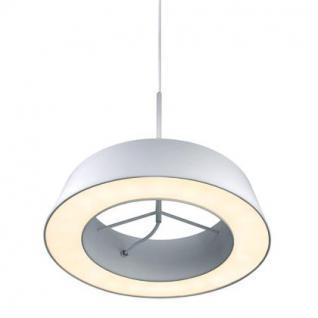 Pendelleuchte Metall PVC weiß LED