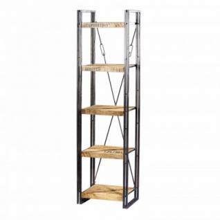 regal mit f nf b den aus massivholz im industriedesign breite 55 h he 200 cm kaufen bei. Black Bedroom Furniture Sets. Home Design Ideas