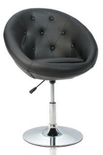 Design Sessel mit Zierknöpfen modern in schwarz