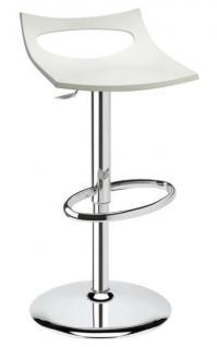 Design Barhocker leinen Drehbar modern Höhe verstellbar
