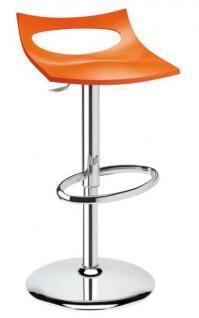 Design Barhocker orange Drehbar modern Höhe verstellbar - Vorschau