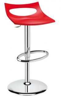 Design Barhocker rot Drehbar modern Höhe verstellbar