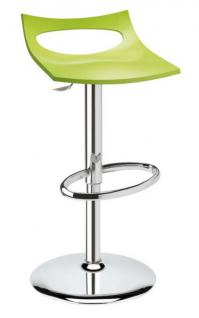 Design Barhocker hellgrün Drehbar modern Höhe verstellbar