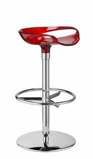 Design Barhocker rot transparent modern stylisch - Vorschau