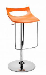 Design Barhocker orange modern Höhe verstellbar - Vorschau