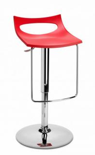 Design Barhocker rot modern Höhe verstellbar